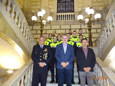 Onze nous agents de la Guàrdia Urbana