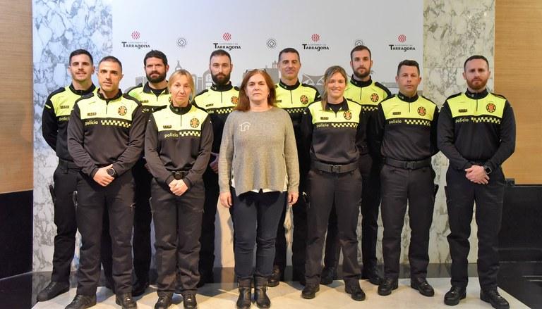 Presa de possessió de deu nous agents de la Guàrdia Urbana