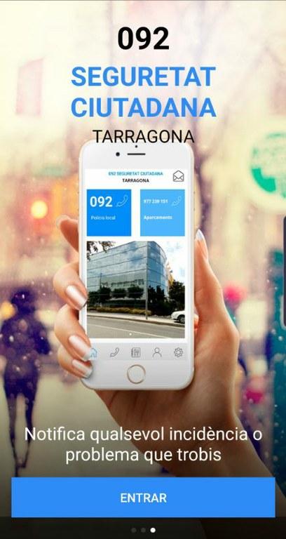 Tarragona implantarà una nova APP que actua de botó antipànic per persones en situació d'urgència