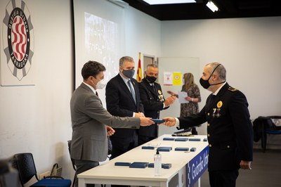 La Guàrdia Urbana celebra el seu 163è aniversari en un acte marcat per la pandèmia