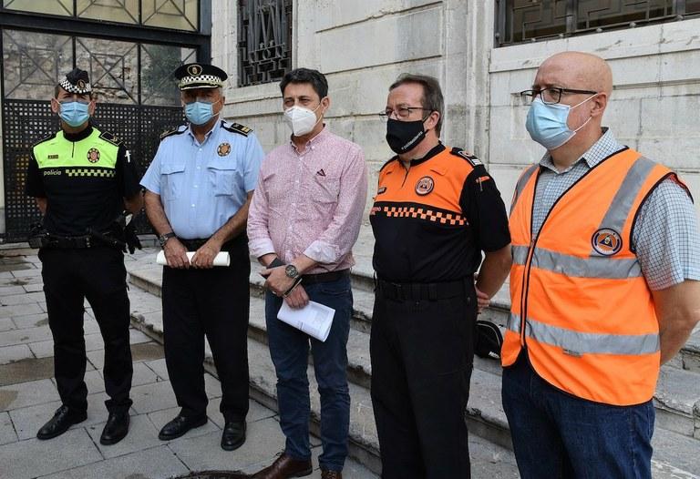 La Guàrdia Urbana i Protecció Civil engeguen una campanya d'accions per afavorir la responsabilitat ciutadana davant el coronavirus