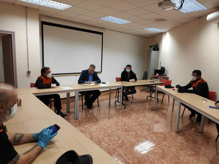 L'alcalde agraeix la tasca dels voluntaris de Protecció Civil durant la crisi pel coronavirus