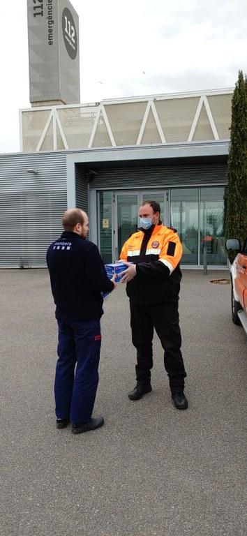 Protecció Civil fa entrega de més de 35.000 guants i un miler de mascaretes als serveis sanitaris i bombers del Camp de Tarragona