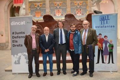 Astafanias i DINCAT signen un conveni per millorar l'atenció a les persones amb discapacitat intel·lectual
