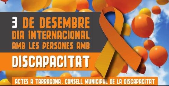 Demà 3 de desembre Dia Internacional de les Persones amb Discapacitat
