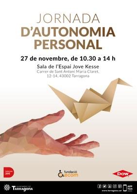 El 27 de novembre se celebrarà la I Jornada d'Autonomia Personal