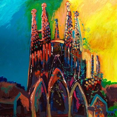 Exposició d'obres de les parelles artístiques al Pati del Rei Jaume I de l'Ajuntament