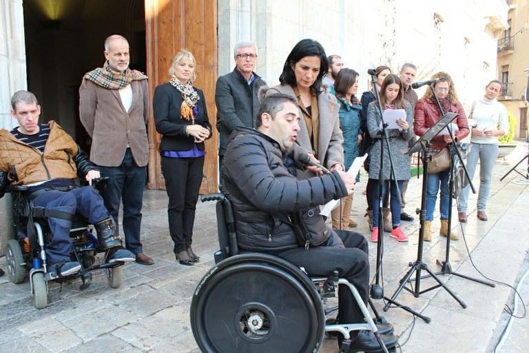 Les entitats socials de la ciutat commemoren el Dia de la Discapacitat