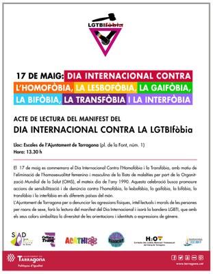 Dia Internacional contra l'homofòbia i la transfòbia