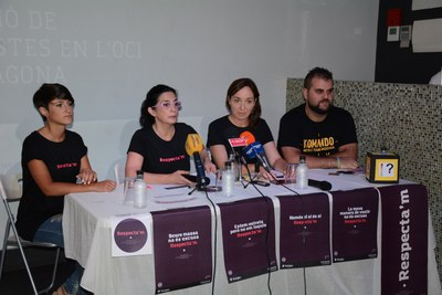 """La campanya """"Respecta'm"""" vol prevenir les conductes sexistes en l'oci de la ciutat"""