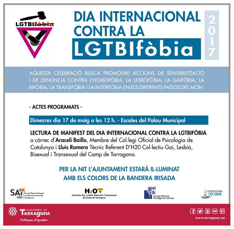 Demà dia internacional contra la LGTBIfòbia