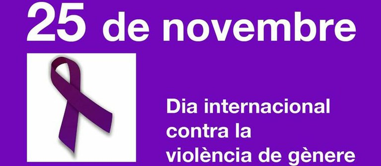 Actes amb motiu del Dia Internacional per a l'Eliminació de la Violència envers les Dones