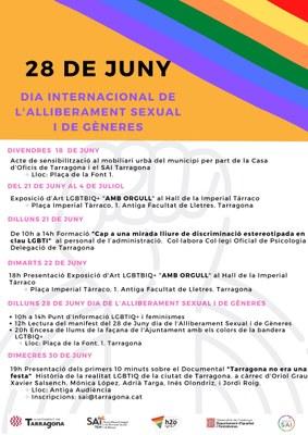 Tarragona celebra el 28 de juny el Dia Mundial de l'Alliberament Sexual i de Gèneres