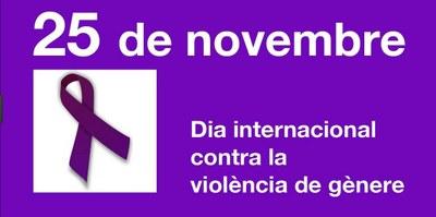 Acte amb motiu del dia internacional per a l'eliminació de la violència envers les dones