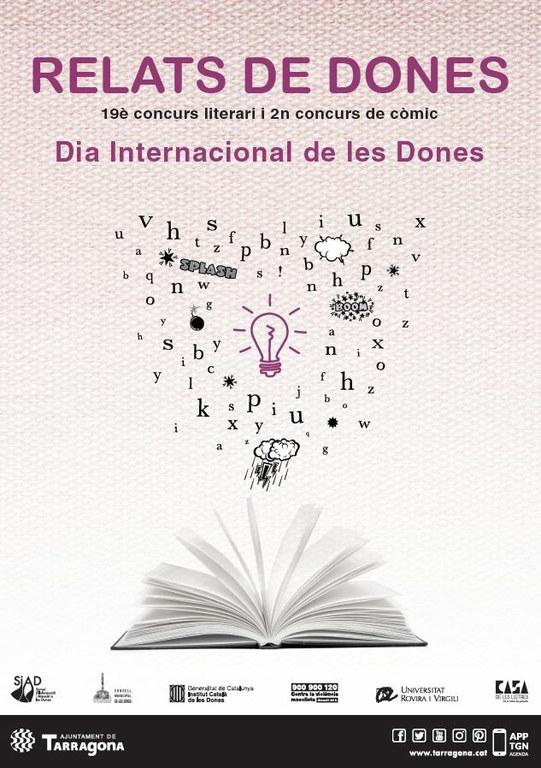 L'Ajuntament convoca el concurs literari Relats de Dones i el de Còmics per la Igualtat