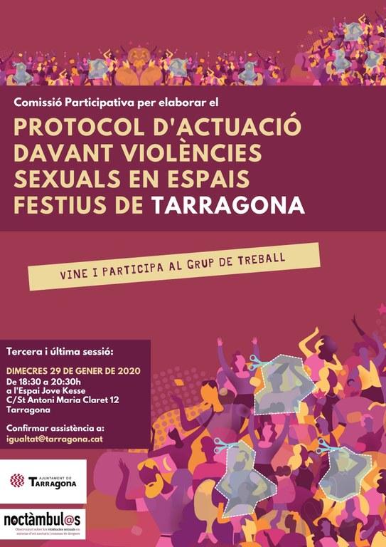 Convocada la darrera reunió participativa per elaborar el Protocol davant les violències sexuals als espais d'oci
