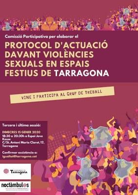 Convocada la tercera reunió participativa per elaborar el Protocol davant les violències sexuals als espais d'oci