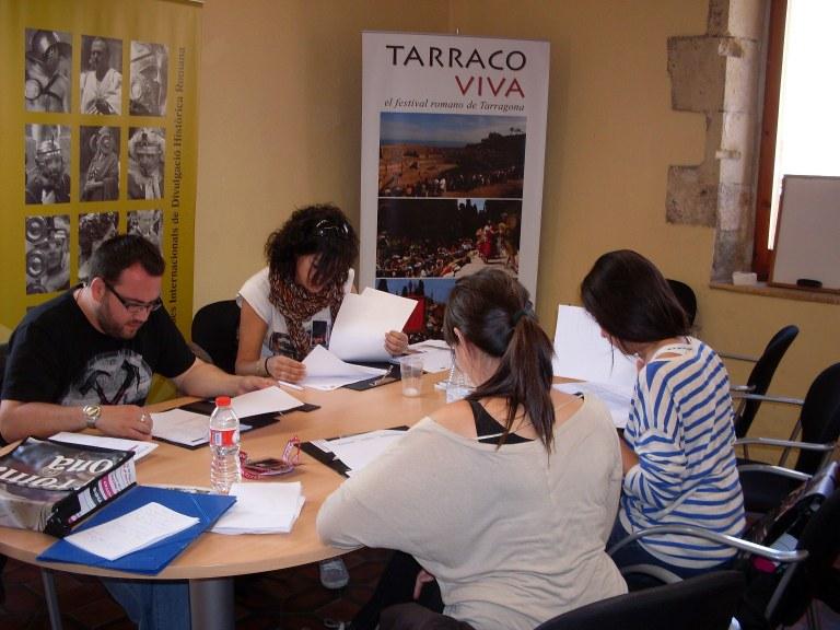"""Els alumnes del curs en """"Gestió d'Esdeveniments"""" realitzen pràctiques a Tarraco Viva"""