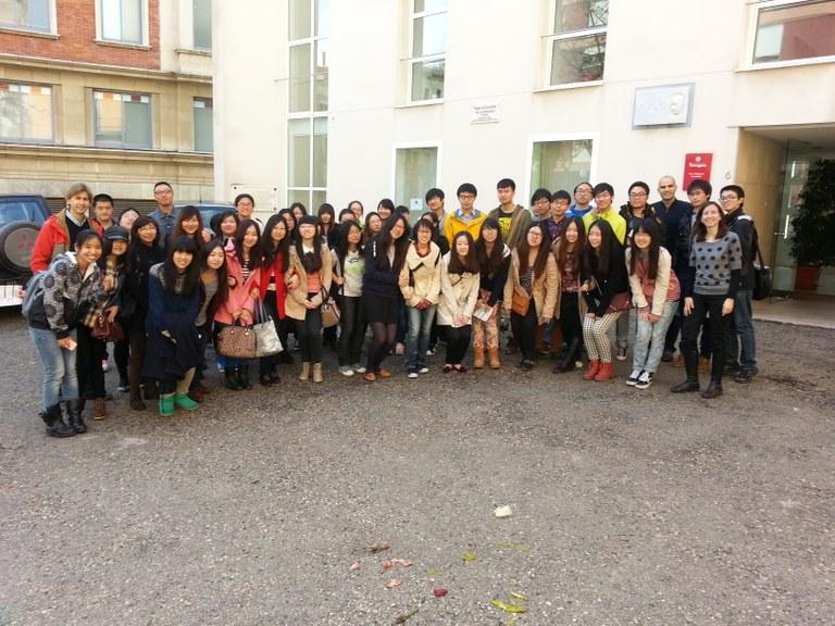 Estudiants xinesos de la URV visiten el Viver d'empreses Pau Delclòs