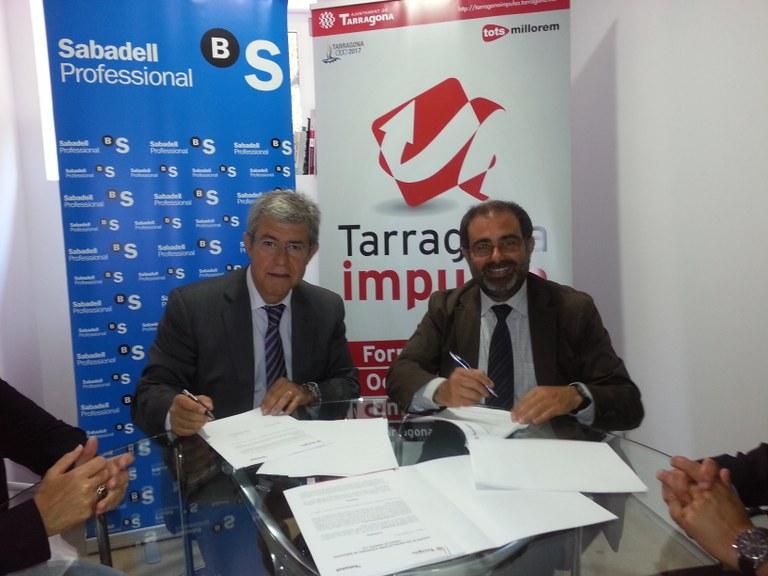 L'Ajuntament de Tarragona i el Banc de Sabadell faciliten l'accés al finançament per a noves empreses