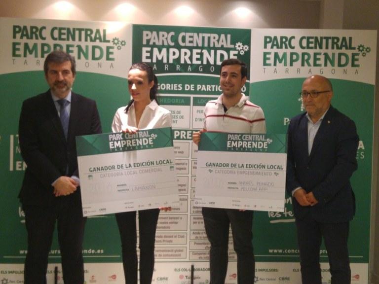 L'Ajuntament de Tarragona i el Parc Central premien els emprenedors del territori