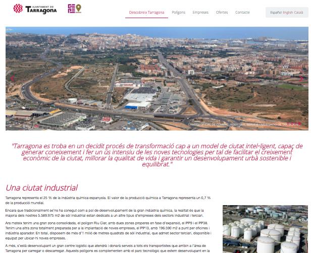 Tarragona Impulsa renova el portal web dels polígons industrials de la ciutat