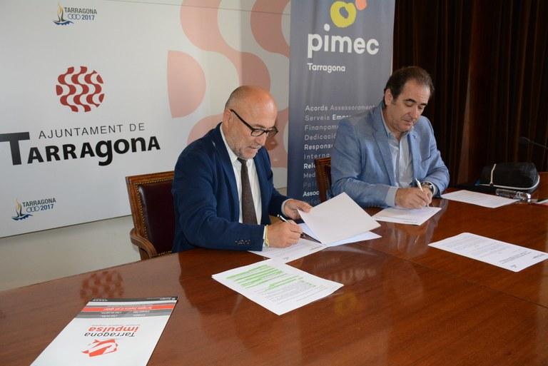 L'Ajuntament i PIMEC impulsen accions per a la millora de la competitivitat empresarial