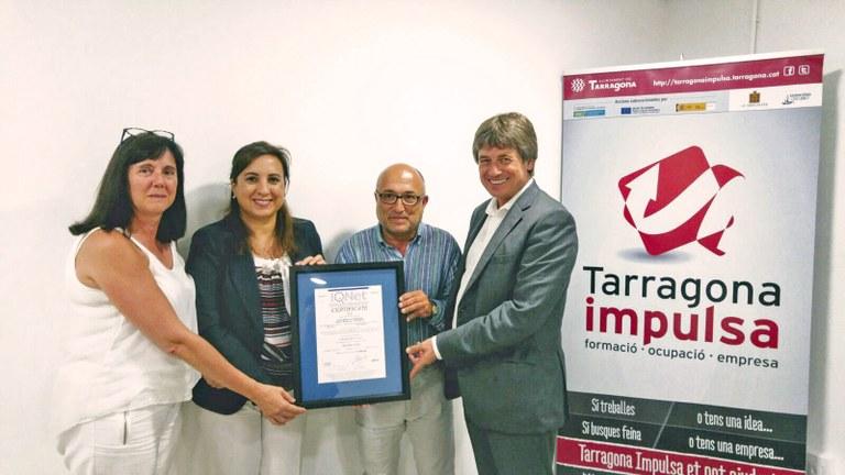 Tarragona Impulsa i el departament de contractació de l'Ajuntament de Tarragona obtenen la certificació de qualitat ISO 9001:2015