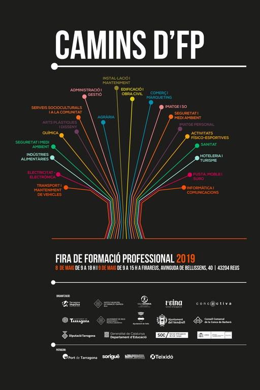 La Fira 'Camins d'FP 2019' permet descobrir l'àmplia oferta de formació professional del Camp de Tarragona