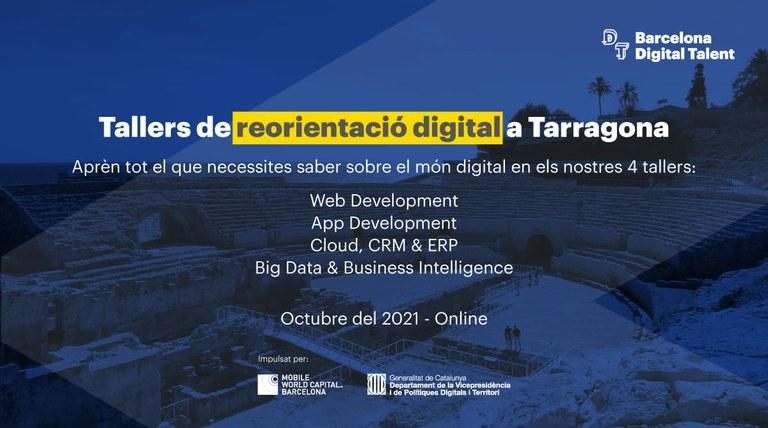 L'Ajuntament de Tarragona organitza tallers de reorientació digital