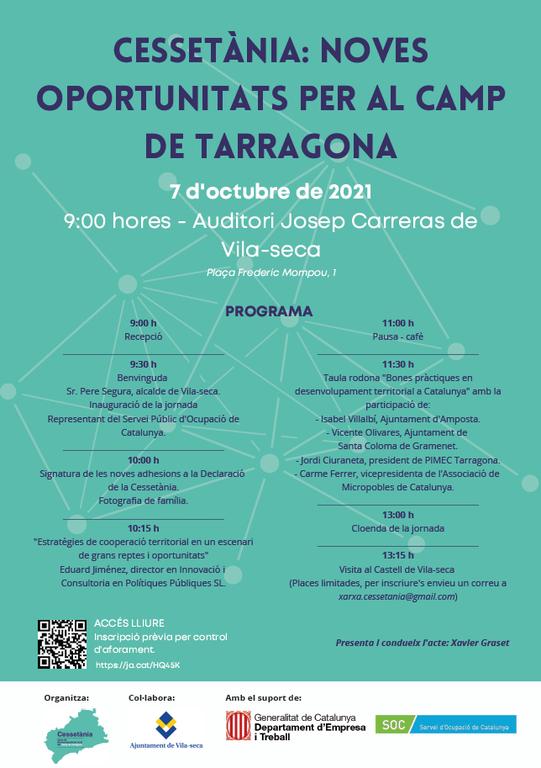 Punt de trobada d'entitats de desenvolupament local a la jornada 'Cessetània: noves oportunitats per al Camp de Tarragona'